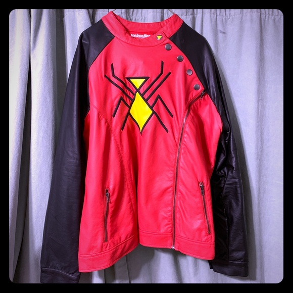 Marvel Jackets & Blazers - We Love Fine/Marvel Spider-Woman moto jacket, 3XL